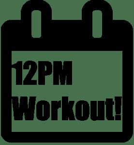 Workout Calendar Event